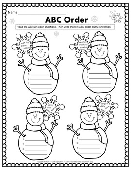 1st & 2nd Grade Math and Literacy Printables - January
