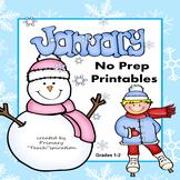 January Math & ELA Worksheets Distance Learning Digital Ac