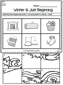 January Math and Literacy Printables and Activities For Kindergarten