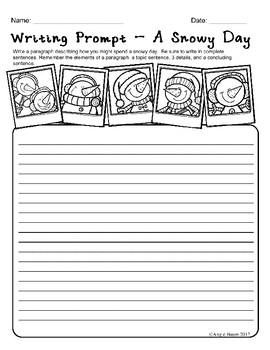 January Math and Literacy Printables for Upper Elementary | No Prep!