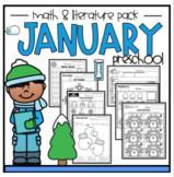 January Math and Literature Pack Preschool