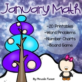 January Math for First Grade~ 20 Printables, Word Problems, and More!