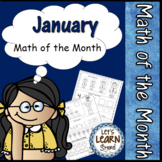January Math Worksheets, Winter Themed Daily Math, January Activities