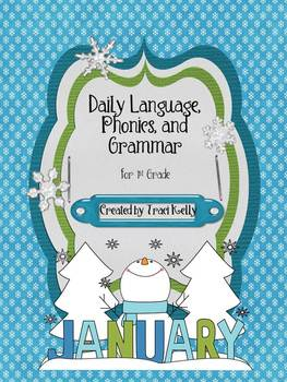 January-May Daily Language Arts, Phonics, Grammar for 1st Grade