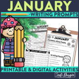 January Writing Prompts Journal and Paper Winter