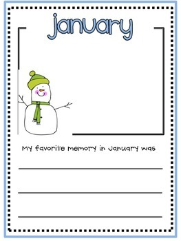 January Memory Writing Prompt