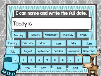 January Mimio Calendar