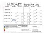 January Monthly Behavior Log 2014