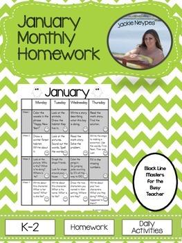 January Monthly Homework