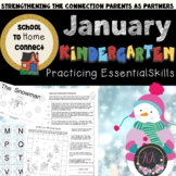 January Monthly Homework Packet: Kindergarten