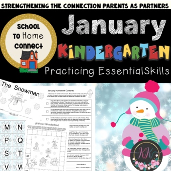 January Monthly Homework Packet: Kindergarten
