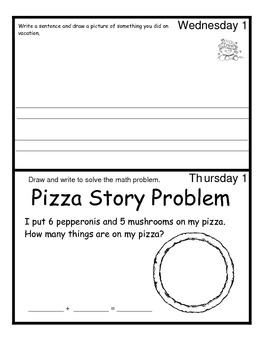 January Monthly Homework for Kindergarten- Editable