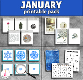 January Monthly Printable Packet Montessori