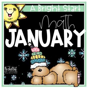 January Morning Bright {Kindergarten Math Morning Work}