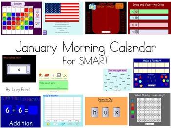 January Morning Calendar SMART