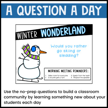 January Morning Meeting -- Question of the Day