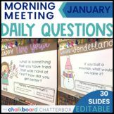 January Morning Meeting Question of the Day | Google Slides