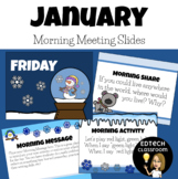 January Morning Meeting Slides | New Years Distance Learni