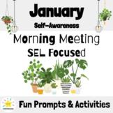 January Morning Meeting Slides & Workbook: Social Emotiona