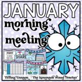 January Morning Meeting and Calendar First Grade