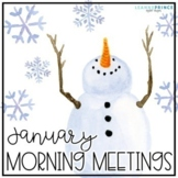 January Morning Meetings - Distance Learning - Online Learning