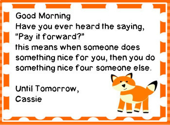 Fox Morning Message - Morning Work - For Traditional and Digital Classrooms!