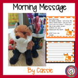 January Fox Morning Message - Morning Work - For use in Digital Classrooms!