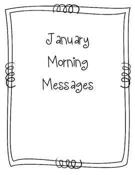 January Morning Message Book