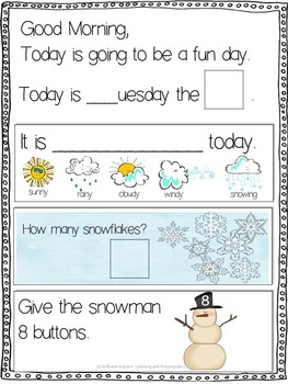 January Morning Message Math Time