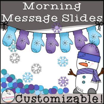 January Morning Message Slides~ EDITABLE!
