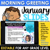 January Morning Message Slides Bitmoji | Writing Prompts |