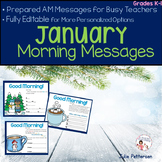 January Morning Messages Projectable and Editable