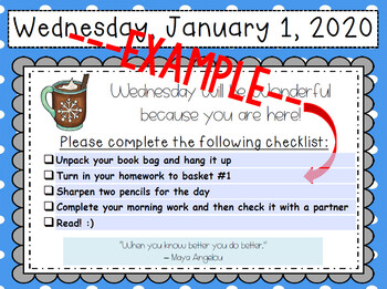 January Morning Message Editable Template