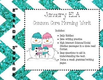 January ELA Morning Work