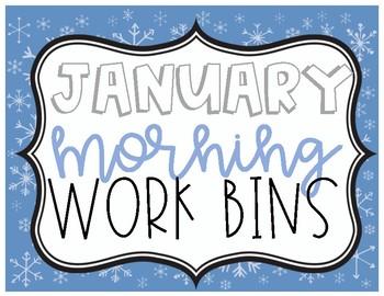 January Morning Work Bins