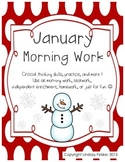 January Morning Work- Critical Thinking