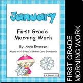 January Morning Work First Grade Common Core Standards
