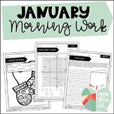 January Morning Work | For Upper Elementary | ELA and Math Review