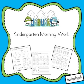 January Morning Work (Kindergarten)