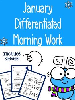 January Morning Work -Pre-Primer Sight Words