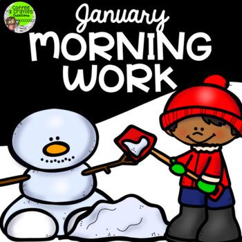 January Morning Work Preschool Kindergarten First Grade Homeschool