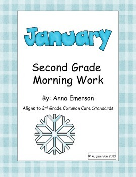 January Morning Work Second Grade Common Core Standards