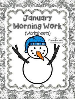 January Morning Work (Worksheets)