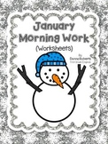 January Morning Work (Worksheets)