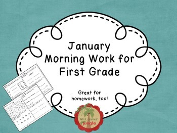 January Morning Work for First Grade