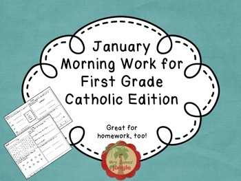 January Morning Work for First Grade Catholic Edition
