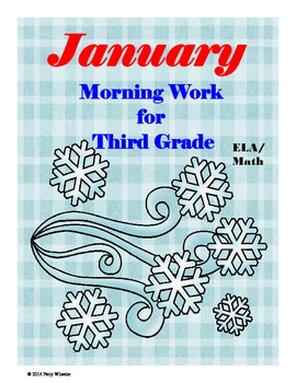 January Morning Work for Third Grade