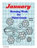 January Morning Work for Third Grade
