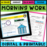 Morning Work or Homework: First Grade (January)