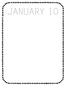 January NO PREP Journal Pages (Early Childhood)